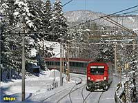 approaching Semmering station