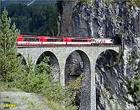 Glacier Express at the Landwasser viaduct