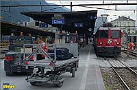 Station Chur with Ge 4/4 II 626