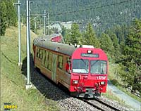 Regional train to Pontresina