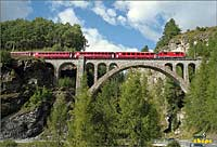 Val Tuoi Viaduct close to Guarda