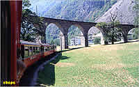 Turning viaduct at Brusio